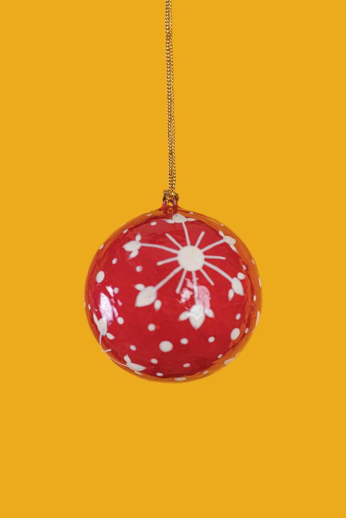 Red Winks Christmas Bauble