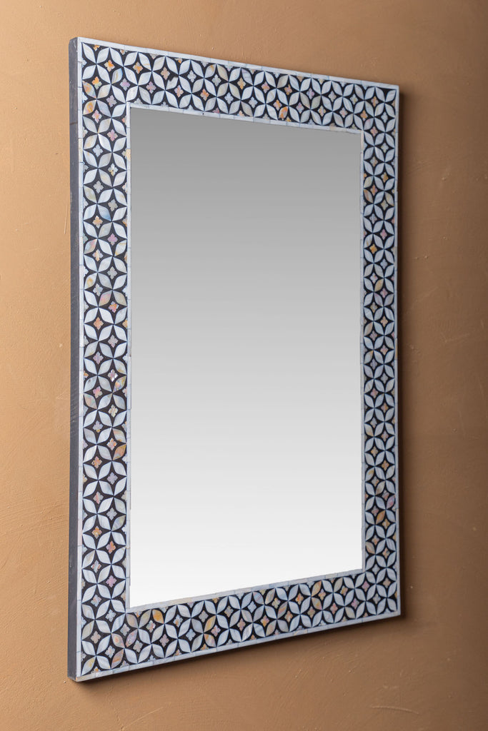 Black  Mother Of Pearl Wall Mirror