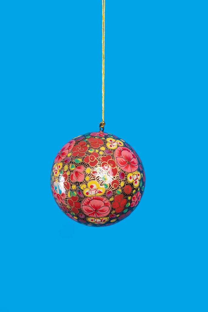 Russian Floral Christmas Bauble