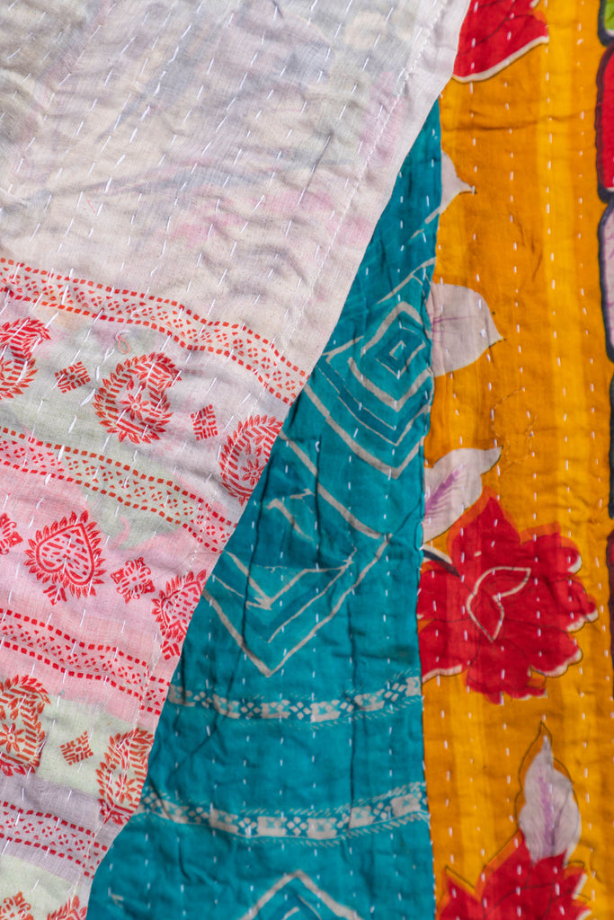 Vintage Kantha Throw - 138