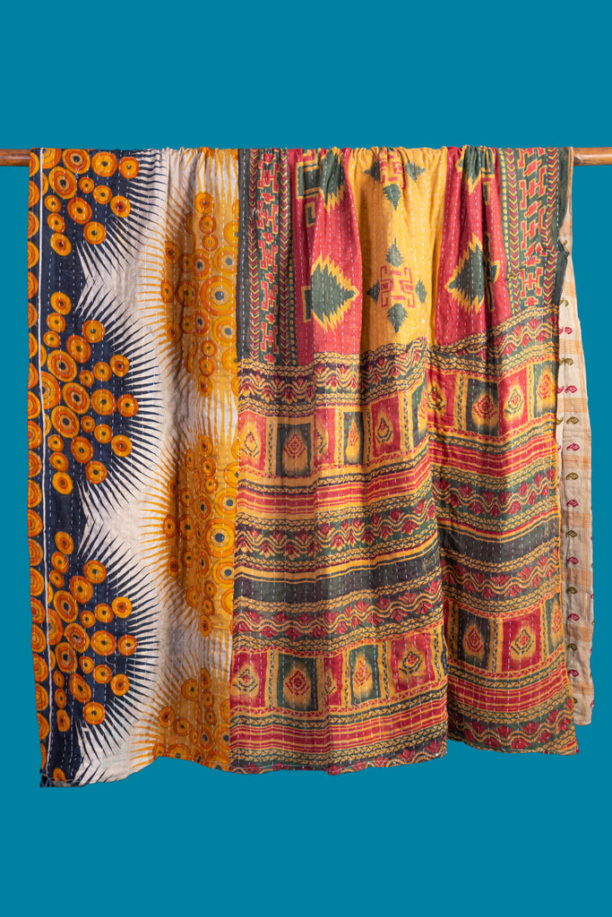 Vintage Kantha Throw - 135