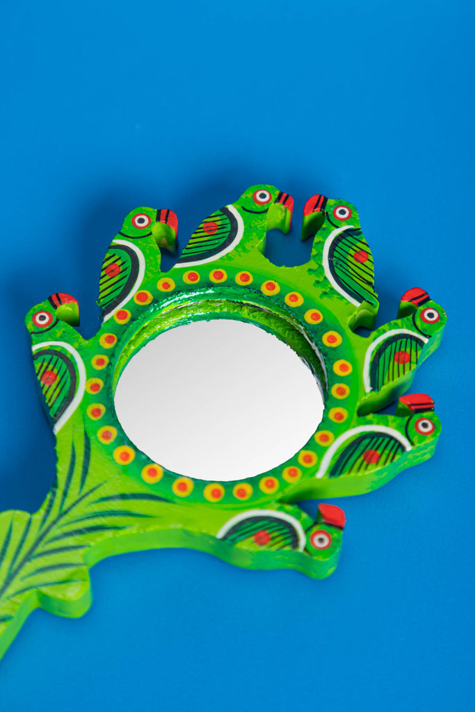 Parrot Hand Painted Pocket Mirror