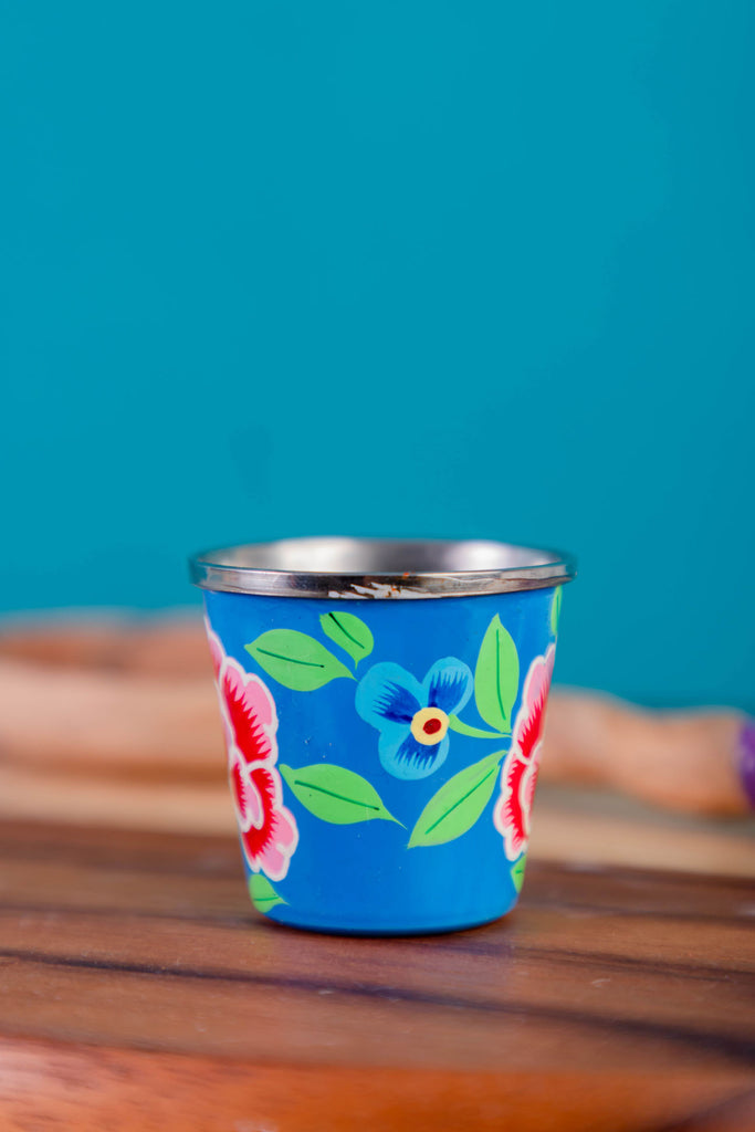 Smoke Blue Hand Painted Egg Cup
