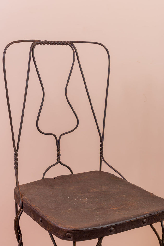 Vintage Iron Chair - 108