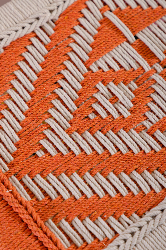 Orange Bench with Recycled Cotton Hand Strapping