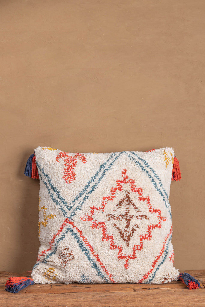 Warli Recycled Hand Tufted Cotton Cushion Cover 06