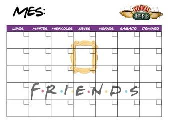 Calendario Acrílico Friends