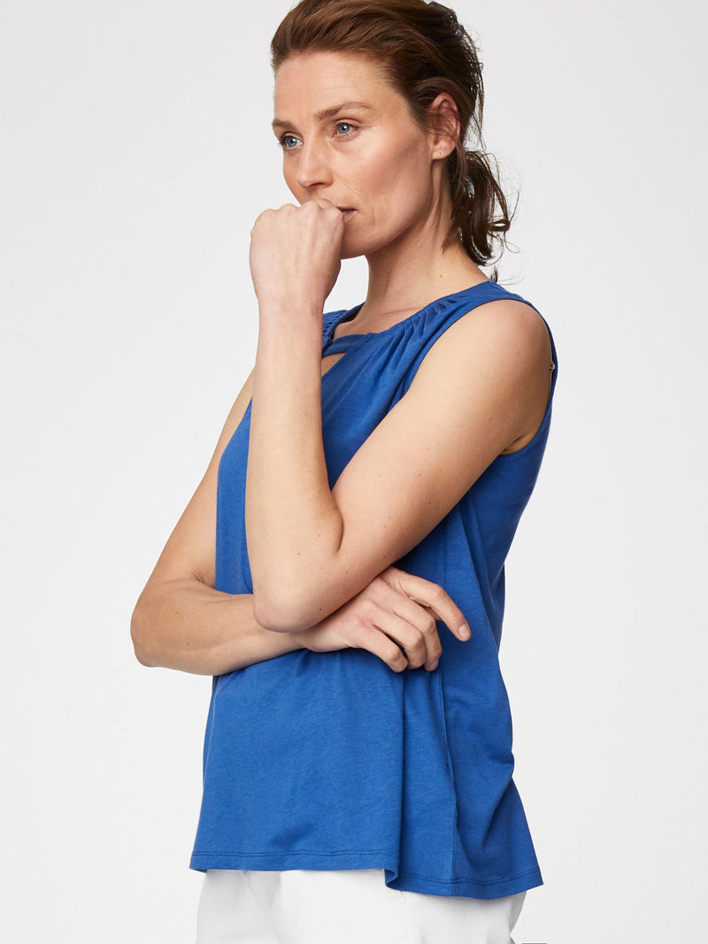 Thought Marine Blue Elenora top