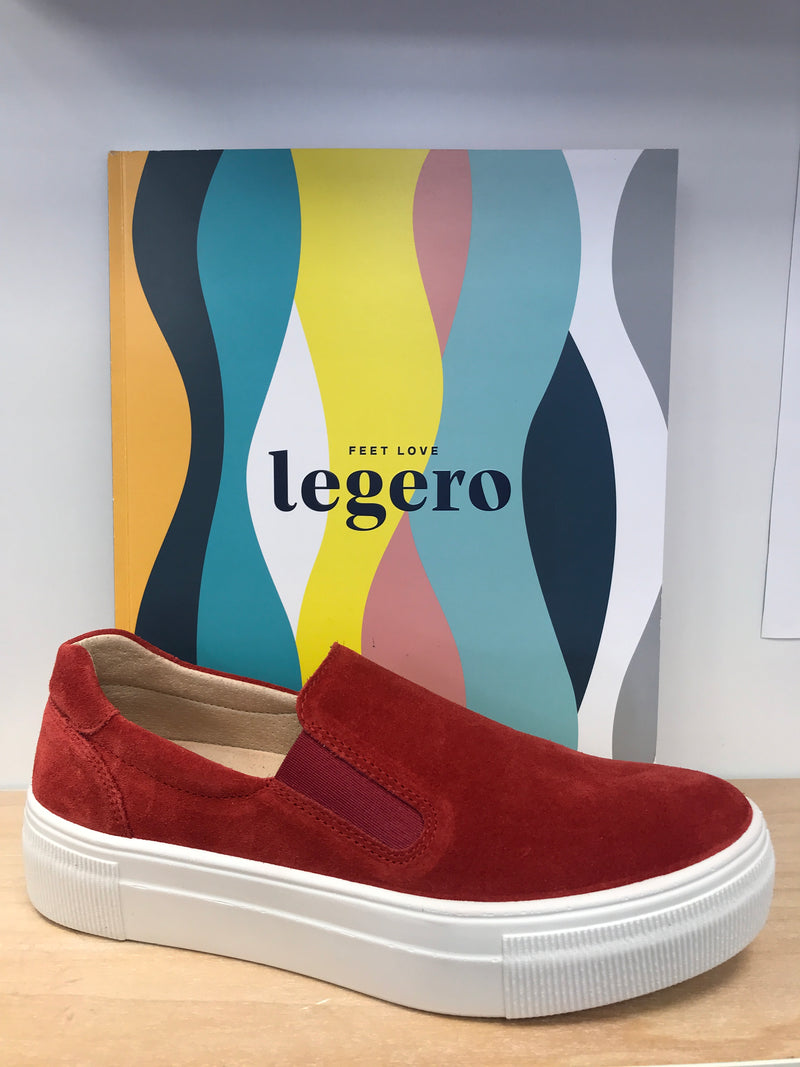 Legero Red Elasticated Loafer Sneakers