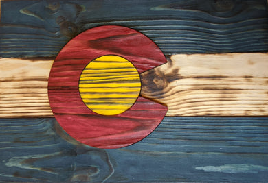 Wood Colorado State Flag