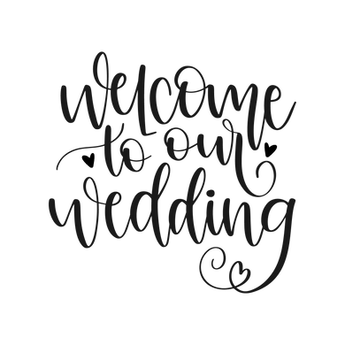 WED04 - Welcome to Our Wedding