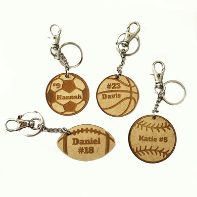 Sports Balls Key Chains & Bag Tags