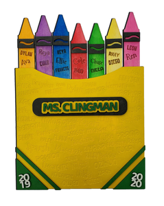 Crayon Box with Students Names