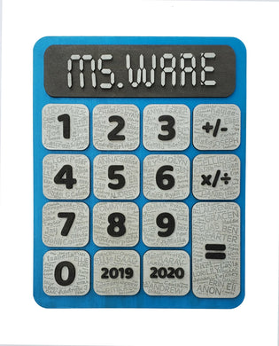 Calculator with Students Names