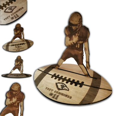Wood Football Figurine
