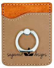 Load image into Gallery viewer, Riverdale Leather Phone Wallet with Ring Stand