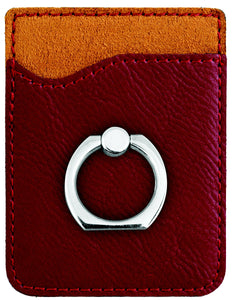 Leather Phone Wallet with Ring Stand