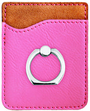 Load image into Gallery viewer, Leather Phone Wallet with Ring Stand