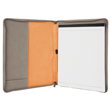 "Load image into Gallery viewer, Riverdale Leatherette Portfolio with Zipper 9 1/2"" x 12"""