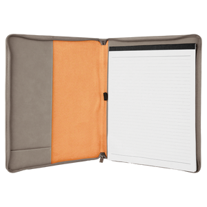 "Riverdale Leatherette Portfolio with Zipper 9 1/2"" x 12"""