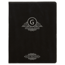 "Load image into Gallery viewer, Riverdale Leatherette Small Portfolio with Notepad 7"" x 9"""