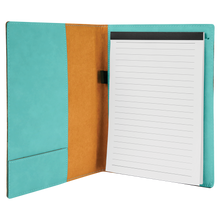 "Load image into Gallery viewer, Leatherette Small Portfolio with Notepad 7"" x 9"""