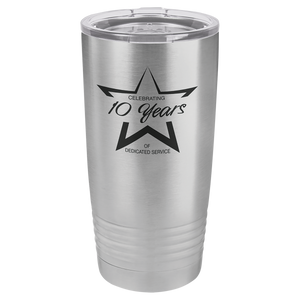 20 oz. Tumbler w/Clear Lid