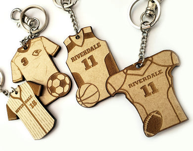 Sports Jersey Key Chains & Bag Tags