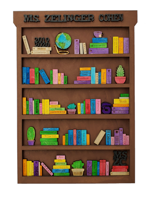 Bookcase with Students Names