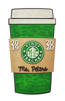 Coffee Cup with Students Names