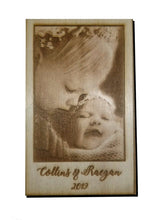 "Load image into Gallery viewer, 5""x7"" Wood Photo Engraving"