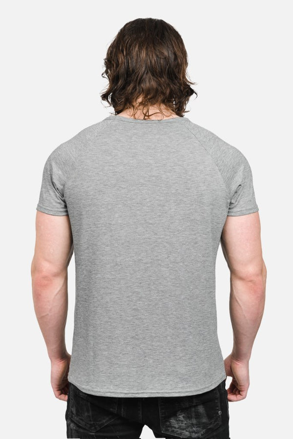 Raglan Tee (Heather Grey)