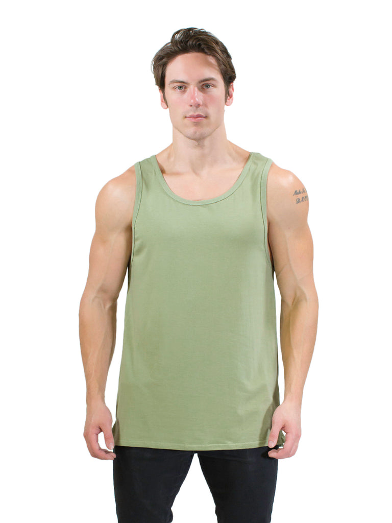 The Drop Arm Tank Top (Olive)