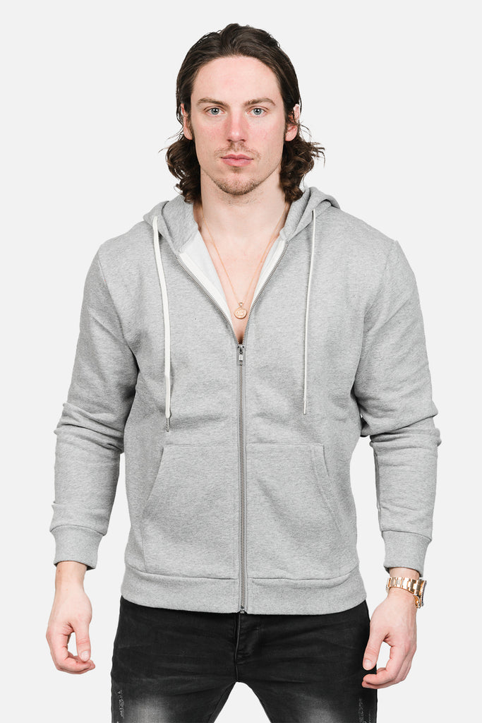Zip-Up Hoodie (Grey)