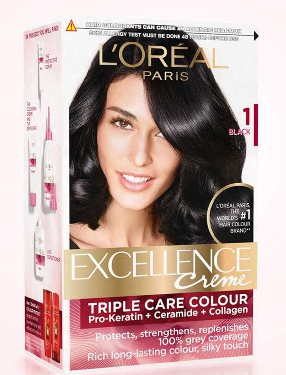 Loreal Excellence Cream Hair Color Black 1
