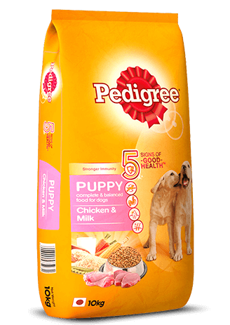 Pedigree Puppy Dry Dog Food, Chicken & Milk, 10kg Pack