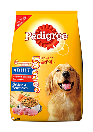 Pedigree Adult Dry Dog Food, Chicken & Vegetables, 20kg Pack