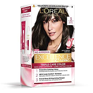 Loreal Excellence Cream Hair Color Dark Brown 3