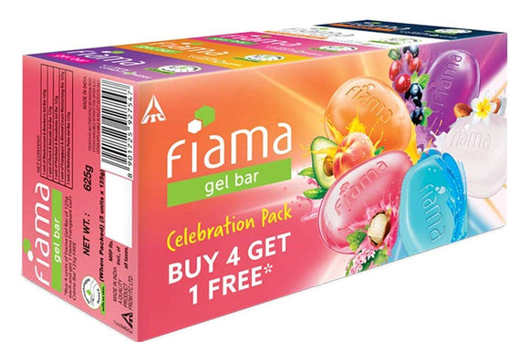 Fiama Gel Bar Celebration Pack Buy 4 Get 1 Free