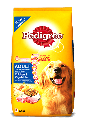 Pedigree Adult Dry Dog Food, Chicken & Vegetables, 10kg Pack