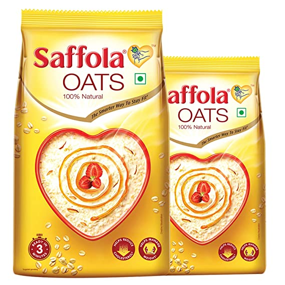 Saffola Oats Plain 1Kg With Saffola Oats Plain 400g Free