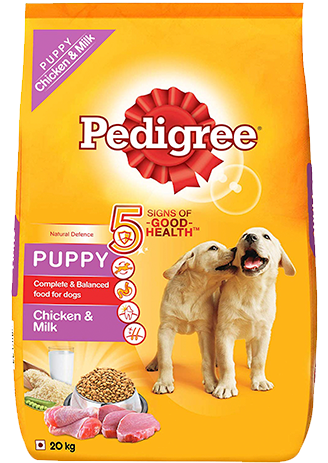 Pedigree Puppy Dry Dog Food, Chicken & Milk, 20kg Pack