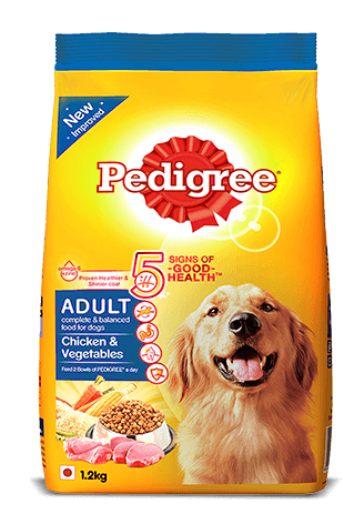 Pedigree Adult Dry Dog Food, Chicken & Vegetables, 1.2kg Pack