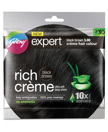 Godrej Rich Cream Hair Color Black Brown 3.00