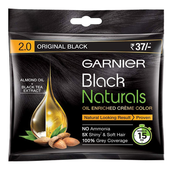 Garnier Black Natural Hair Color Original Black 2.0