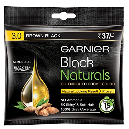 Garnier Black Natural Hair Color Brown Black 3.0