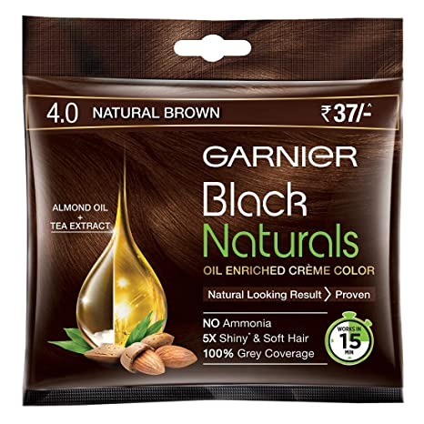 Garnier Black Natural Hair Color Natural Brown 4.0
