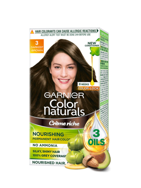 Garnier Color Natural Darkest Brown 3