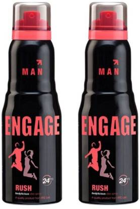 Engage Rush - For Men  (150 ml, Pack of 2)