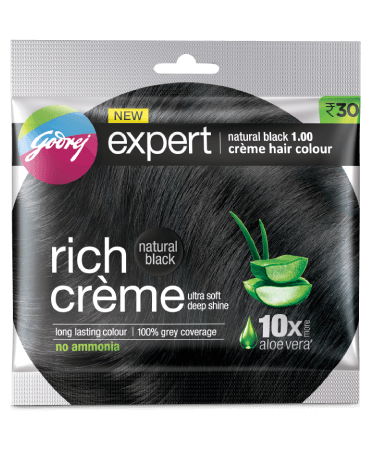 Godrej Rich Cream Hair Color Natural Black 1.00